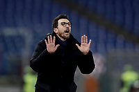 Calcio, Serie A: AS Roma - Torino Roma, stadio Olimpico, 9 marzo, 2018.<br /> Roma's coach Eusebio Di Francesco speaks to his players during the Italian Serie A football match between AS Roma and Torino at Rome's Olympic stadium, 9 marzo, 2018.<br /> UPDATE IMAGES PRESS/Isabella Bonotto