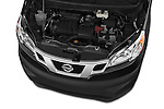 Car Stock 2014 Nissan NV 200 Cargo S 5 Door Van Engine high angle detail view