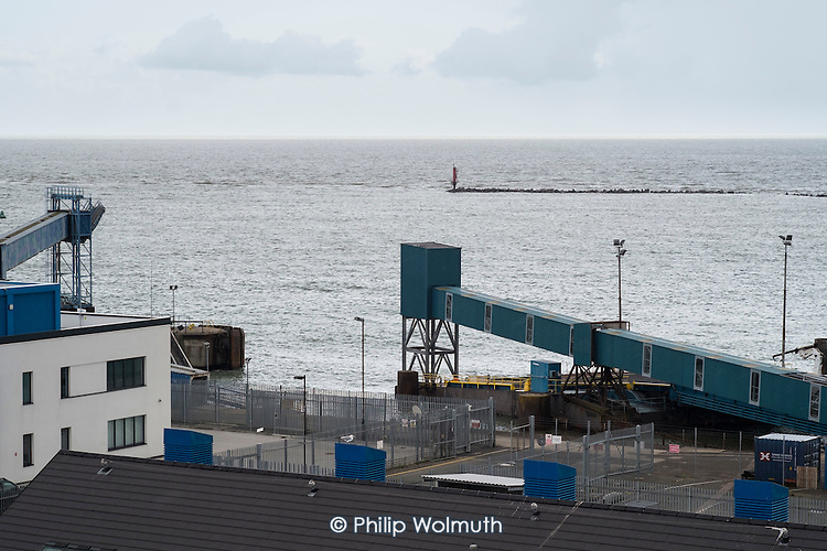 Disused ferry terminal Ramsgate,.  The last ferry service was discontinued in 2013. Ramsgate is one of the five most deprived seaside towns in the UK.