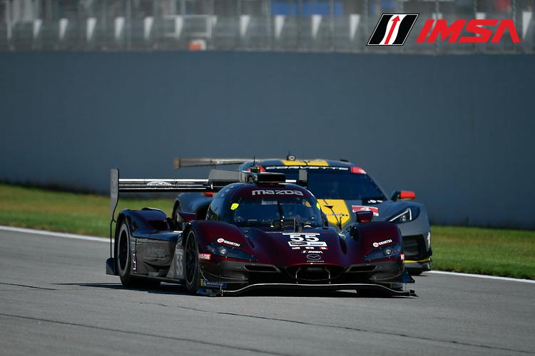 #55 Mazda Team Joest Mazda DPi, DPi: Jonathan Bomarito, Harry Tincknell, Ryan Hunter-Reay, #3 Corvette Racing Corvette C8.R, GTLM: Antonio Garcia, Jordan Taylor
