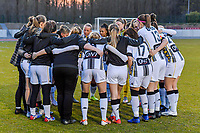team Charleroi pictured before a female soccer game between FC Femina White Star Woluwe and Sporting Charleroi on the 2nd matchday of Play off 2 in  the 2020 - 2021 season of Belgian Scooore Womens Super League , friday 16 th of April 2021  in Woluwe , Belgium . PHOTO SPORTPIX.BE   SPP   STIJN AUDOOREN