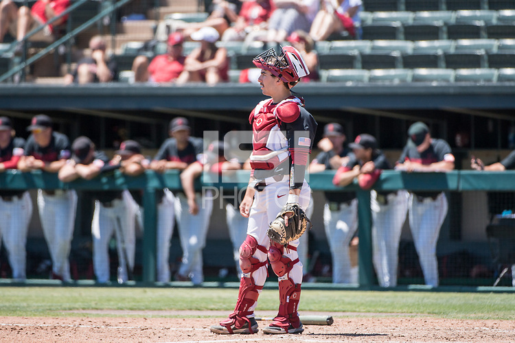 STANFORD, CA - MAY 29: Kody Huff during a game between Oregon State University and Stanford Baseball at Sunken Diamond on May 29, 2021 in Stanford, California.