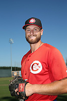 Justin Dillon (22) of the Vancouver Canadians poses for a photo before a game against the Salem-Keizer Volcanoes at Volcanoes Stadium on July 24, 2017 in Keizer, Oregon. Salem-Keizer defeated Vancouver, 4-3. (Larry Goren/Four Seam Images)