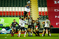 3rd January 2021; Welford Road Stadium, Leicester, Midlands, England; Premiership Rugby, Leicester Tigers versus Bath Rugby; Taulupe Faletau of Bath Rugby takes a line out