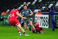 Luke Morgan of Ospreys in action during the Heineken Champions Cup Round 5 match between the Ospreys and Saracens at the Liberty Stadium in Swansea, Wales, UK. Saturday January 11 2020.