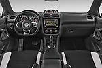 Stock photo of straight dashboard view of a 2015 Volkswagen SCIROCCO R 3 Door Hatchback 2WD Dashboard