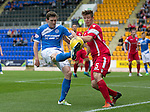 St Johnstone v Stirling Albion…30.07.16  McDiarmid Park. Betfred Cup<br />Blair Alston and Ross Smith<br />Picture by Graeme Hart.<br />Copyright Perthshire Picture Agency<br />Tel: 01738 623350  Mobile: 07990 594431