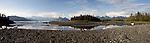 Alaska, Prince William Sound, Columbia Glacier moraine, Heather Island, beached icebergs, bergy bits,