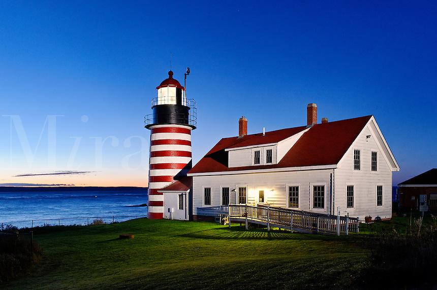 West Quoddy Head Lighthouse, Lubec, Maine, USA