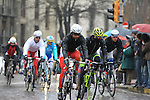 The pelethon passes through Pavia during the 104th edition of the Milan-San Remo cycle race, 17th March 2013 (Photo by Eoin Clarke 2013)