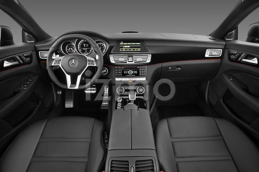 Straight dashboard photo of a 2013 Mercedes CLS Class AMG sedan