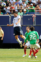 Brian Ching (11) of the United States (USA) heads the ball. Mexico (MEX) defeated the United States (USA) 5-0 during the finals of the CONCACAF Gold Cup at Giants Stadium in East Rutherford, NJ, on July 26, 2009.