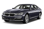 2016 BMW 7 Series 740i 4 Door Sedan Angular Front stock photos of front three quarter view