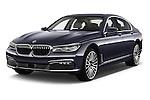 2016 BMW 7 Series 740i 4 Door Sedan Angular Front stock photos of front three quarter view