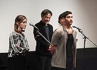 Constance ROUSSEAU - Kiyoshi KUROSAWA - Tahar RAHIM - Avant-premiere du film ' Le Secret de la Chambre Noire ' de Kiyoshi Kurosawa - La Cinematheque francaise 6 fevrier 2017 - Paris - France