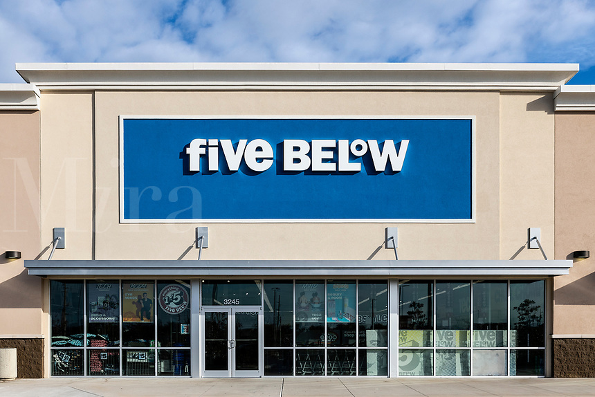 Five Below women's apparel store, Orlando, Florida, USA.
