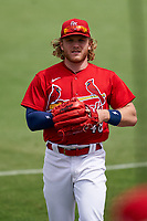St. Louis Cardinals Harrison Bader (48) during a Major League Spring Training game against the Houston Astros on March 20, 2021 at Roger Dean Stadium in Jupiter, Florida.  (Mike Janes/Four Seam Images)
