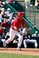 Chris Pettit - Los Angeles Angels 2009 spring training.Photo by:  Bill Mitchell/Four Seam Images