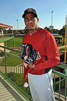 Feb 25, 2010; Kissimmee, FL, USA; The Houston Astros pitcher Alberto Arias (50) during photoday at Osceola County Stadium. Mandatory Credit: Tomasso De Rosa/Four Seam Images