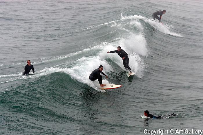 Surfers, Seal Beach, California