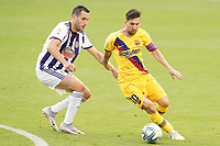 Real Valladolid's Kiko Olivas (l) and FC Barcelona's Leo Messi during La Liga match. July 11,2020. (ALTERPHOTOS/Acero)<br /> 11/07/2020<br /> Liga Spagna 2019/2020 <br /> Valladolid - Barcelona <br /> Foto Alterphotos / Insidefoto <br /> ITALY ONLY