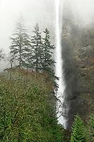 Multnomah Falls in Columbia River Gorge National Scenic Area Oregon