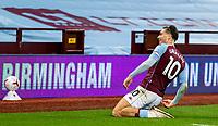 4th October 2020, Villa Park, Birmingham, England;  Aston Villa s Jack Grealish celebrates scoring during the English Premier League match between Aston Villa and Liverpool at Villa Park