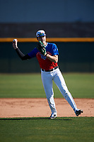 Wesley Hogan during the Under Armour All-America Tournament powered by Baseball Factory on January 18, 2020 at Sloan Park in Mesa, Arizona.  (Zachary Lucy/Four Seam Images)