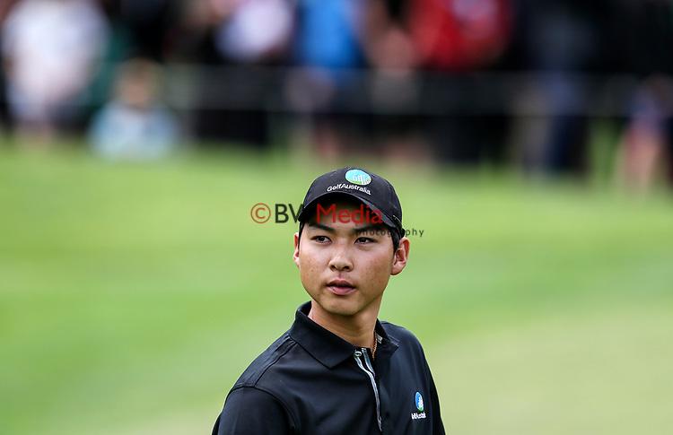 Min Woo Lee of Australia during the Asia Pacific Amateur Golf Championship Round Four, Royal Wellington Golf Course, Wellington, New Zealand, 29 October2017.  Photo: Simon Watts/www.bwmedia.co.nz