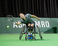 Februari 13, 2015, Netherlands, Rotterdam, Ahoy, ABN AMRO World Tennis Tournament, Joachim Gerard (BEL)<br /> Photo: Tennisimages/Henk Koster