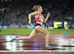 Wales Hannah Brier in action during the female 4x100m final <br /> <br /> Photographer Ian Cook/Sportingwales<br /> <br /> 20th Commonwealth Games - Day 10 - Saturday 2nd August 2014 - Athletics -  Hamden Park - Glasgow - UK