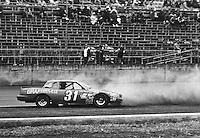 Billie Harvey spins during practice for the Daytona 500, Daytona International Speedway, Daytona Beach, FL, February 15, 1981.  (Photo by Brian Cleary/www.bcpix.com)