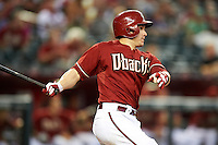 Arizona Diamondbacks catcher Miguel Montero #26 during a National League regular season game against the Colorado Rockies at Chase Field on October 3, 2012 in Phoenix, Arizona. Colorado defeated Arizona 2-1. (Mike Janes/Four Seam Images)