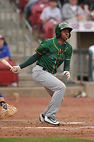 Beloit Snappers shortstop Eric Marinez (2) in action during a game against the Cedar Rapids Kernels at Veterans Memorial Stadium on April 8, 2017 in Cedar Rapids, Iowa.  The Snappers won 7-6.  (Dennis Hubbard/Four Seam Images)