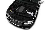 Car Stock 2017 Chrysler 300C Platinum 4 Door Sedan Engine  high angle detail view