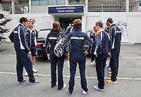 Austria, Kitzbuhel, Juli 14, 2015, Tennis, Davis Cup, Training Dutch team getting ready for the press conference<br /> Photo: Tennisimages/Henk Koster