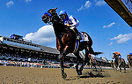 SARATOGA SPRINGS, NY - AUGUST 27: Drefong #13, ridden by Mike Smith wins the Kings Bishop Stakes on Travers Stakes Day at Saratoga Race Course on August 27, 2016 in Saratoga Springs, New York. (Photo by Scott Serio/Eclipse Sportswire/Getty Images)