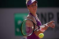 30th May 2021; Roland Garros, Paris, France; French Open Tennis championships, day 1;   Nina STOJANOBIV of Serbia plays a ball against Nao HIBINO of Japan