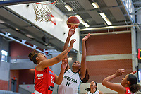 India Pagan (33) of Puerto Rico and A. Elonu (11) of Nigeria pictured during a basketball game between Nigeria and Puerto Rico on Friday 28 th of May 2021 in Kortrijk , Belgium . PHOTO SPORTPIX.BE | SPP | STIJN AUDOOREN