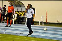 BARRANCABERMEJA - COLOMBIA, 04-08-2021: Alianza Petrolera y Milonarios F. C. durante partido de ida de la fase III ida Copa BetPlay DIMAYOR 2021 en el estadio Daniel Villa Zapata de la ciudad Barrancabermeja. / Alianza Petrolera and Milonarios F. C. during the match of the first leg of phase III first leg BetPlay Cup DIMAYOR 2021 at the Daniel Villa Zapata stadium in Barrancabermeja city. / Photo: VizzorImage / Jose D. Martinez / Cont.