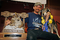 2007 Iditarod champion Lance Mackey    at the Nome awards banquet.