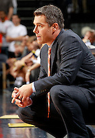 CHARLOTTESVILLE, VA- NOVEMBER 29: Head coach Tony Bennett of the Virginia Cavaliers reacts to a play handles the ball during the game on November 29, 2011 at the John Paul Jones Arena in Charlottesville, Virginia. Virginia defeated Michigan 70-58. (Photo by Andrew Shurtleff/Getty Images) *** Local Caption *** Tony Bennett