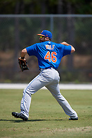 New York Mets Jeremy Wolf (46) during practice before a minor league Spring Training game against the Miami Marlins on March 26, 2017 at the Roger Dean Stadium Complex in Jupiter, Florida.  (Mike Janes/Four Seam Images)