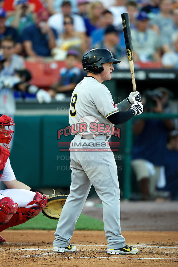 Salt Lake Bees outfielder Kole Calhoun #9 during the Triple-A All-Star game featuring the Pacific Coast League and International League top players at Coca-Cola Field on July 11, 2012 in Buffalo, New York.  PCL defeated the IL 3-0.  (Mike Janes/Four Seam Images)