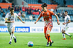 Jeju United Midfielder Lee Changmin (R) in action during the AFC Champions League 2017 Group Stage - Group H match between Jeju United FC (KOR) vs Adelaide United (AUS) at the Jeju World Cup Stadium on 11 April 2017 in Jeju, South Korea. Photo by Marcio Rodrigo Machado / Power Sport Images