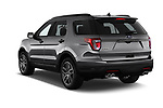 Car pictures of rear three quarter view of a 2018 Ford Explorer Sport 5 Door SUV angular rear