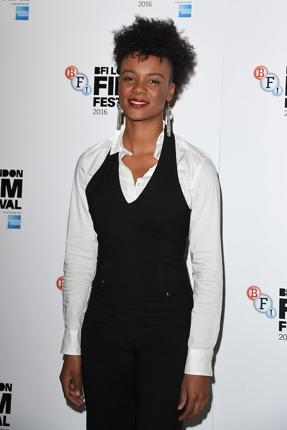 """Leah Harvey<br /> at the London Film Festival 2016 premiere of """"On the Road"""" at the BFI, South Bank, London.<br /> <br /> <br /> ©Ash Knotek  D3169  09/10/2016"""