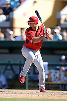 St. Louis Cardinals first baseman Scott Moore (55) during a spring training game against the Detroit Tigers on March 3, 2014 at Joker Marchant Stadium in Lakeland, Florida.  Detroit defeated St. Louis 8-5.  (Mike Janes/Four Seam Images)