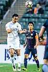 Cameron Neru of Auckland City (L) heads the ball during the Nike Lunar New Year Cup 2017 match between SC Kitchee (HKG) and Auckland City FC (NZL) on January 31, 2017 in Hong Kong, Hong Kong. Photo by Marcio Rodrigo Machado / Power Sport Images