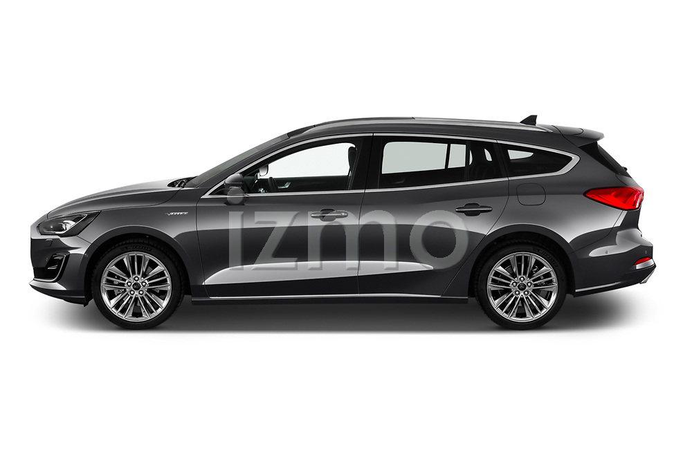 Car Driver side profile view of a 2019 Ford Focus-Clipper Vignale 5 Door Wagon Side View